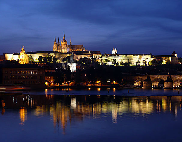 Prague - Prague Castle in the night